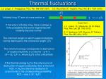 thermal fluctuations