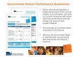 government school performance summaries