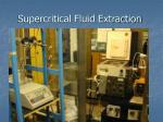 supercritical fluid extraction