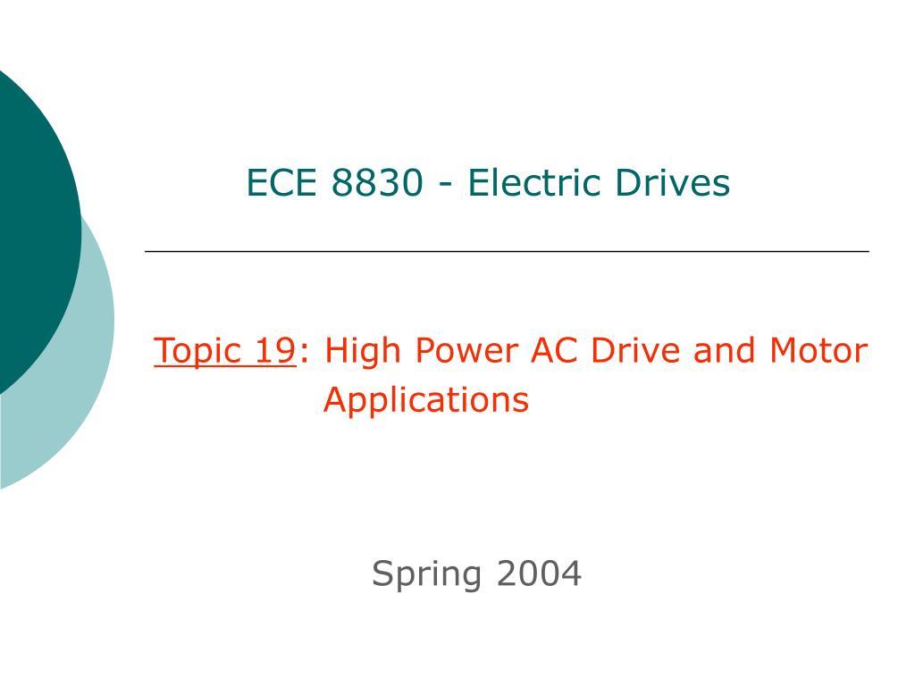 ece 8830 electric drives l.