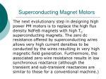 superconducting magnet motors