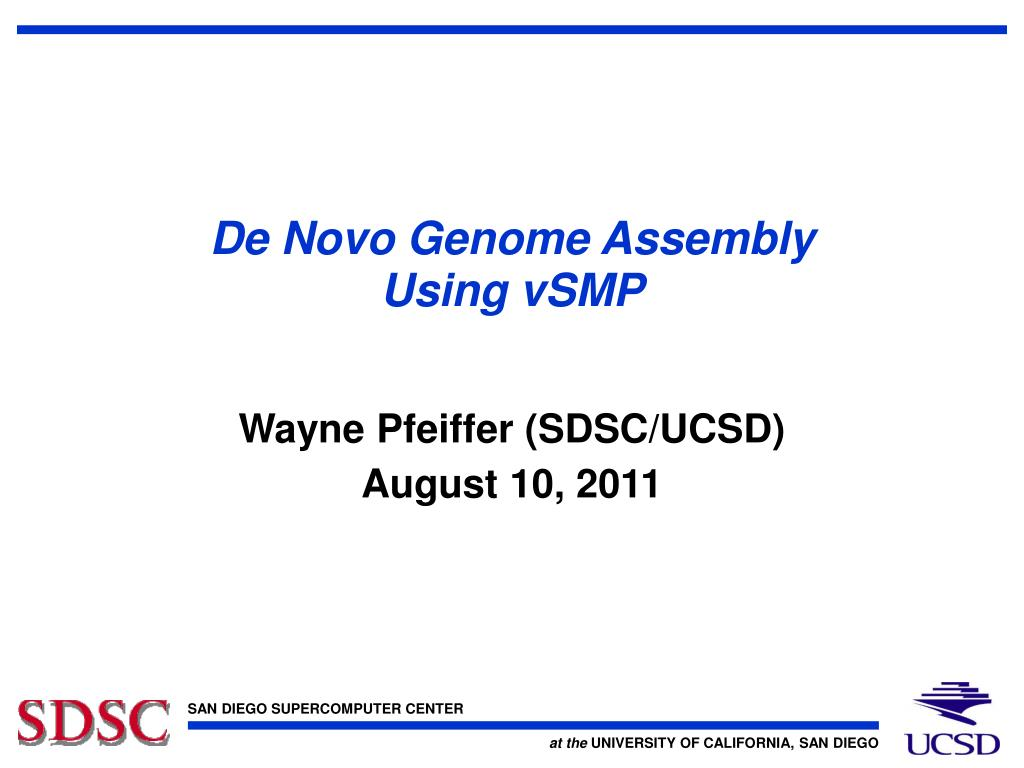 de novo genome assembly using vsmp l.