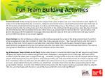 fun team building activities14
