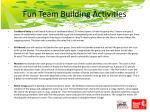 fun team building activities16