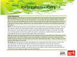 icebreakers pairs
