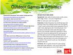 outdoor games activities