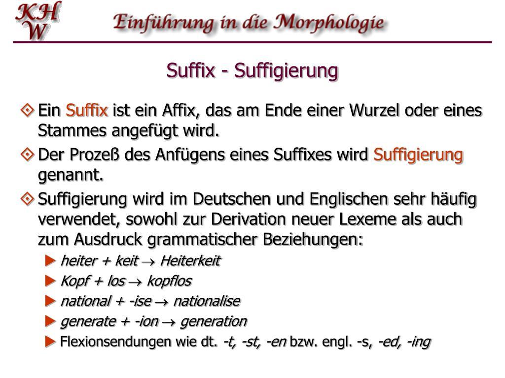 Suffix - Suffigierung