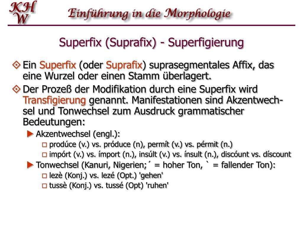 Superfix (Suprafix) - Superfigierung