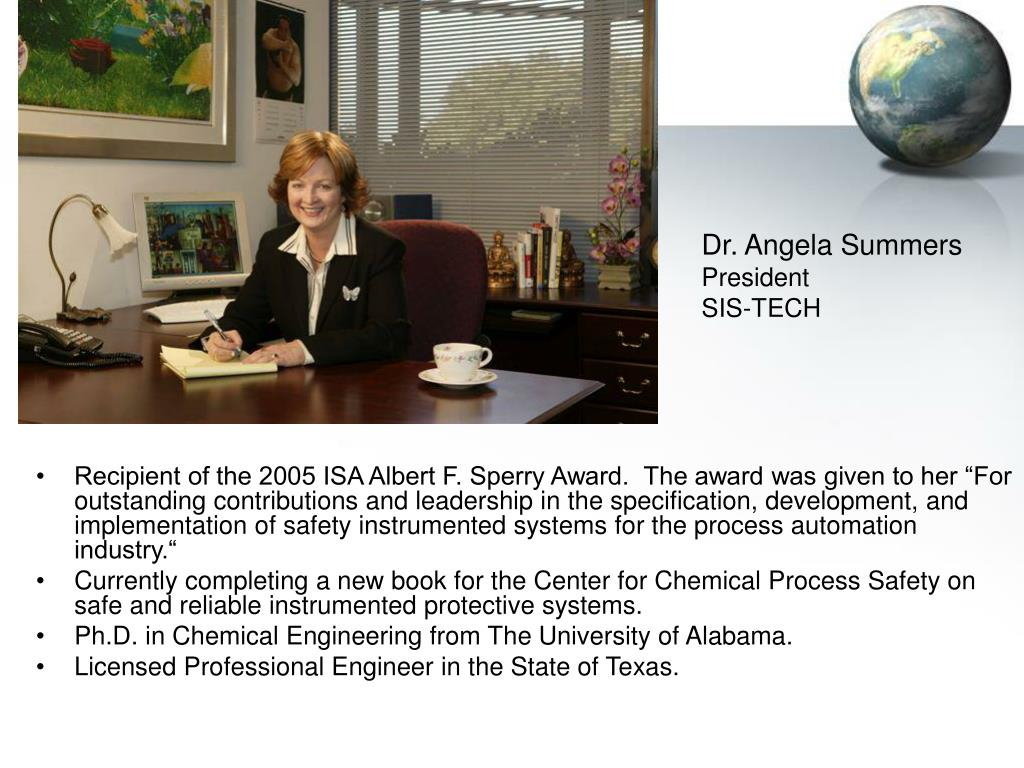 Angela Summers ppt - dr. angela summers president sis-tech powerpoint