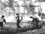 20 th century improvements