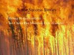 some success stories62