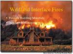 wildland interface fires85