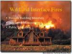 wildland interface fires86