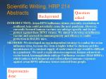 scientific writing hrp 214 abstracts51