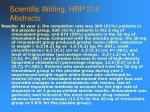 scientific writing hrp 214 abstracts58
