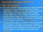 scientific writing hrp 214 the discussion91