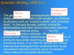 scientific writing hrp 21471