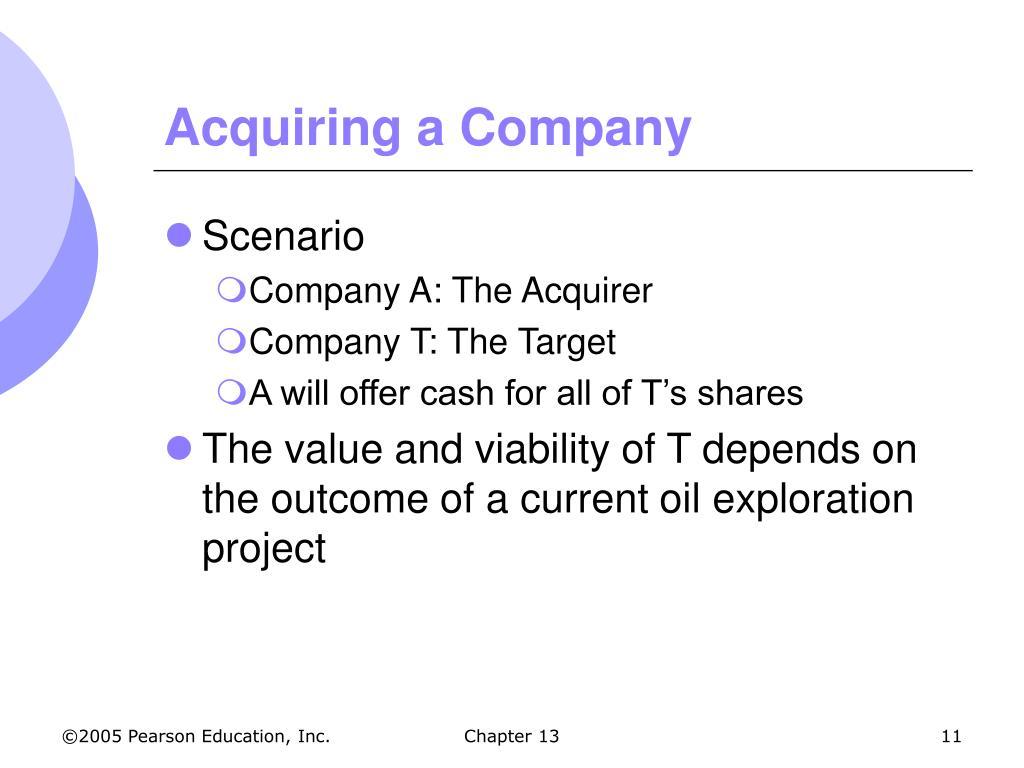 Acquiring a Company
