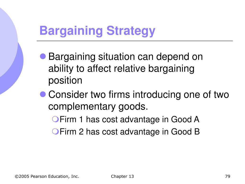 Bargaining Strategy