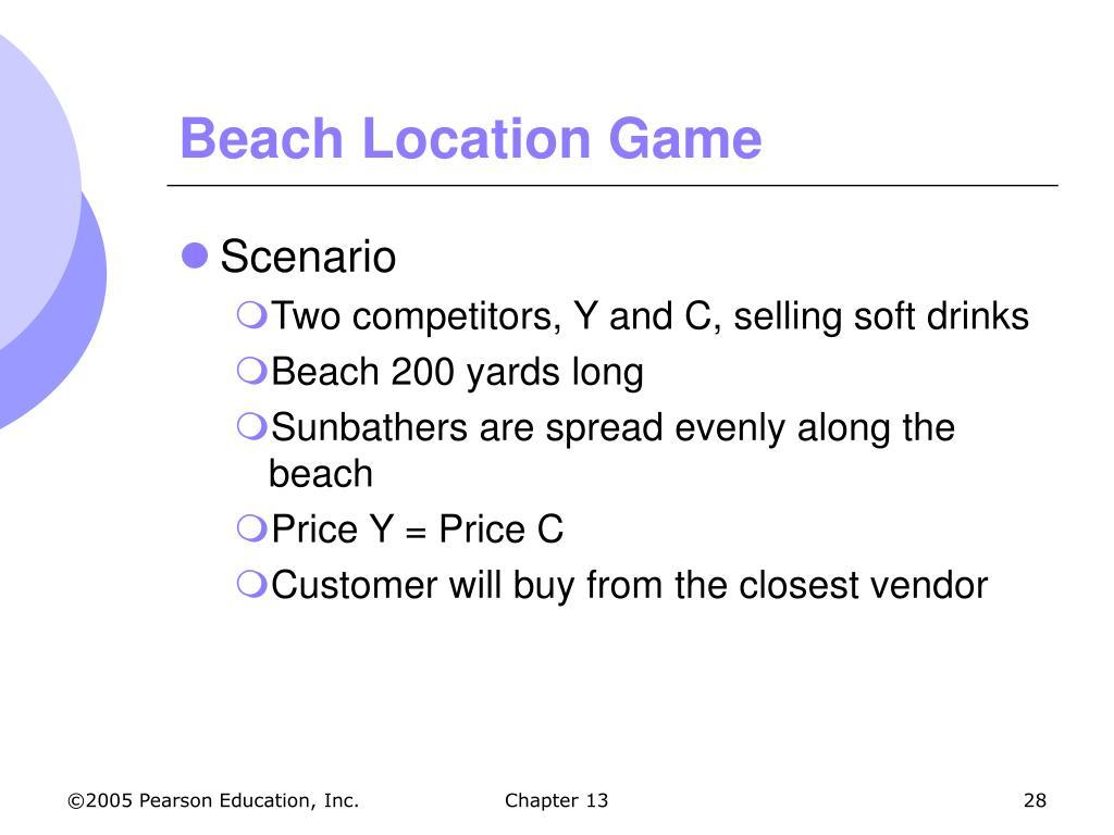 Beach Location Game