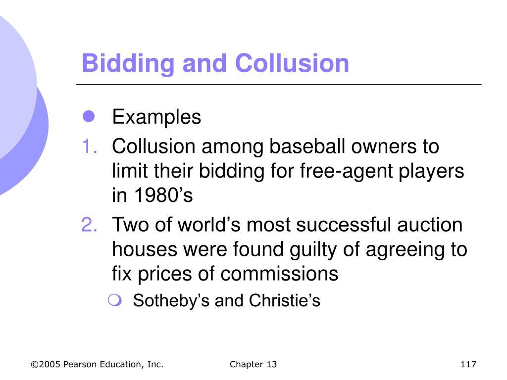 Bidding and Collusion