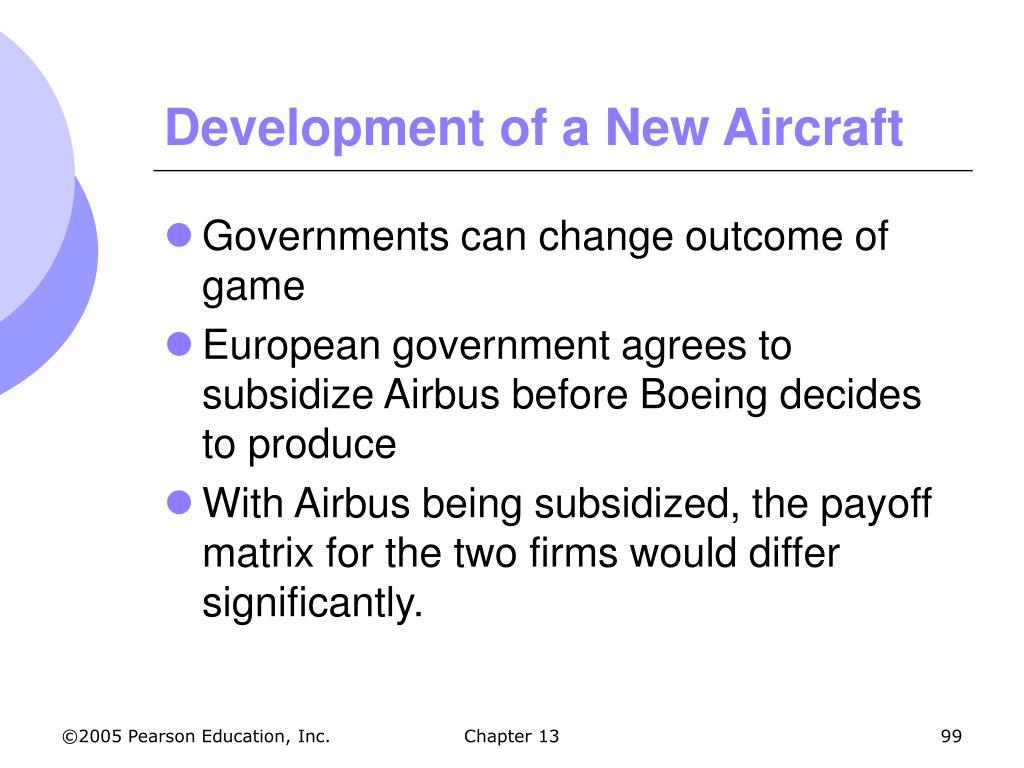 Development of a New Aircraft