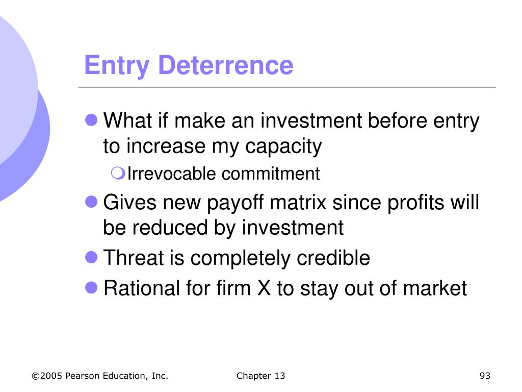 Entry Deterrence