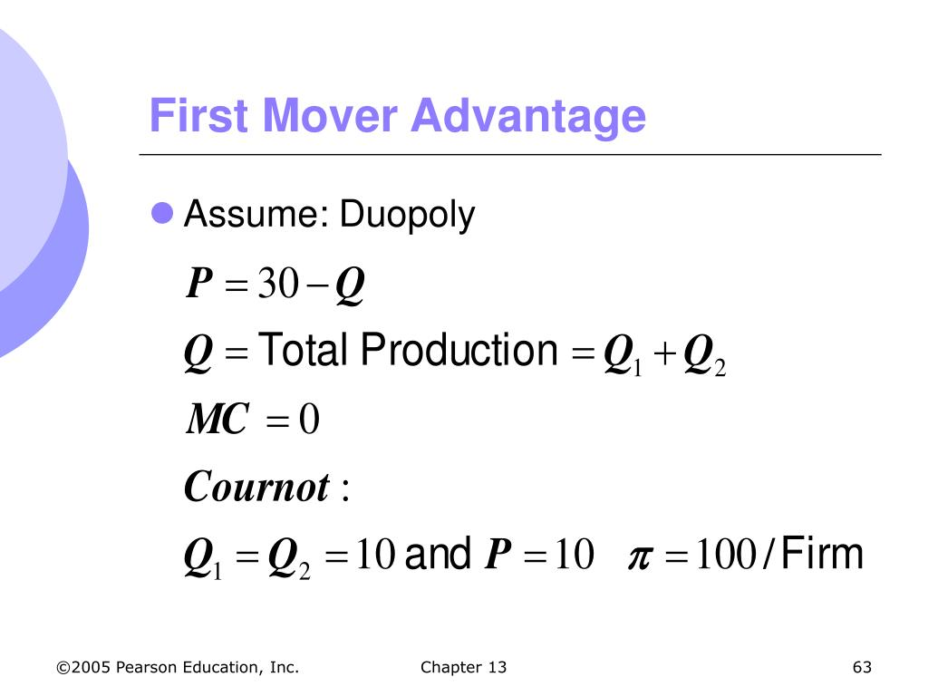 First Mover Advantage