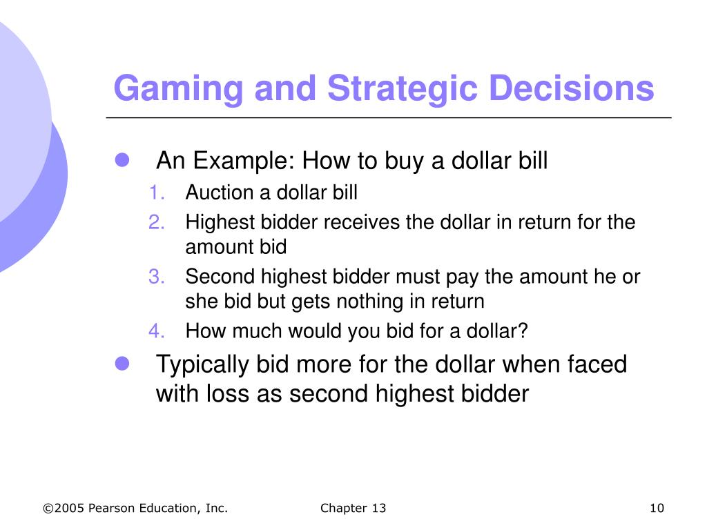 Gaming and Strategic Decisions