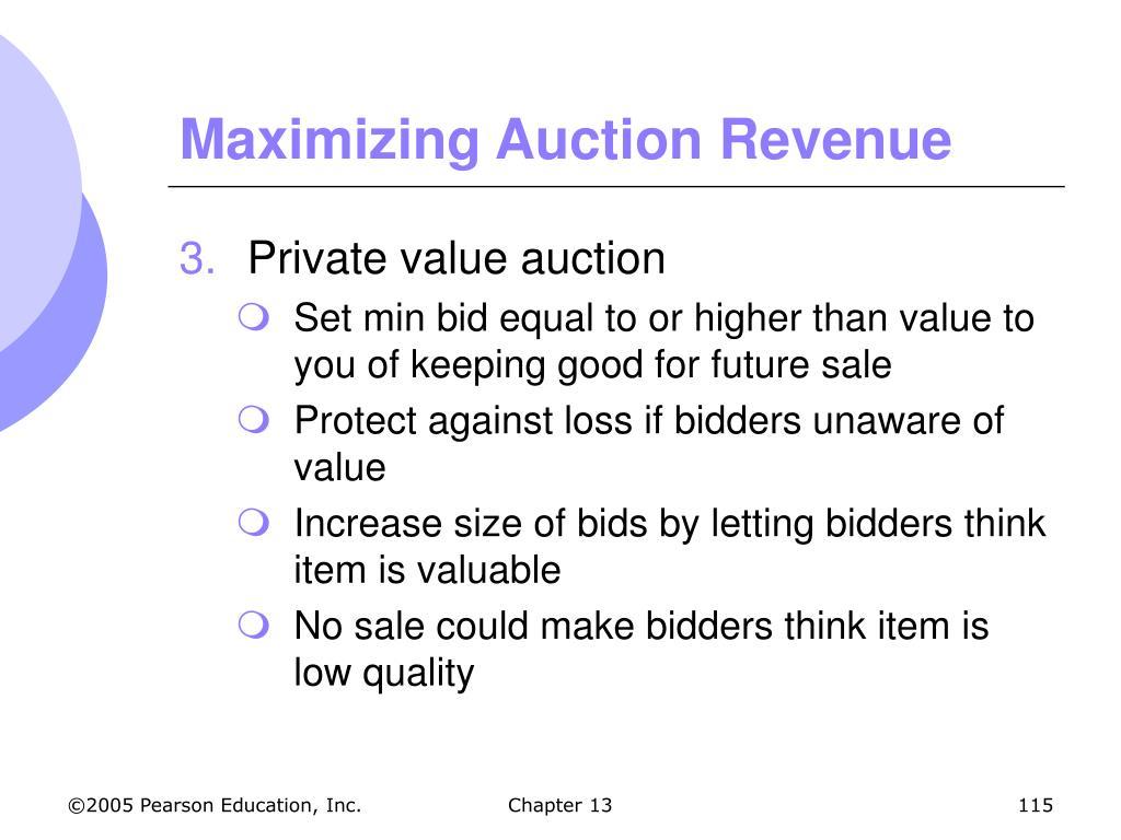 Maximizing Auction Revenue