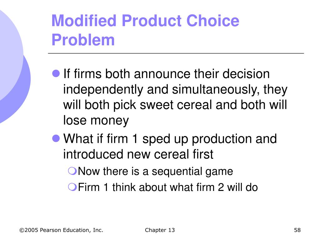 Modified Product Choice Problem