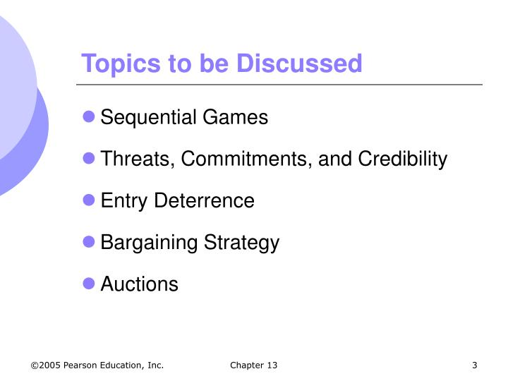 Topics to be discussed3