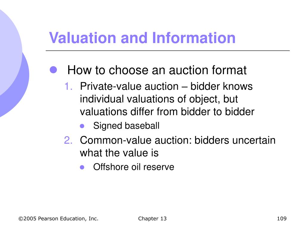 Valuation and Information