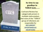 its time to say goodbye to torch tests