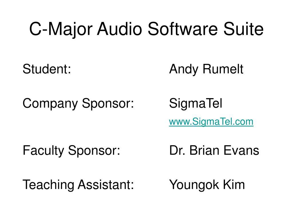 c major audio software suite l.
