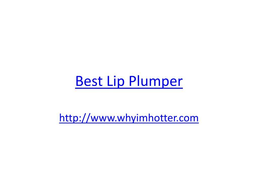 best lip plumper l.