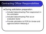 contracting officer responsibilities15