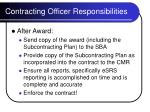 contracting officer responsibilities17