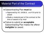 material part of the contract
