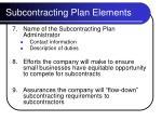 subcontracting plan elements12