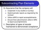 subcontracting plan elements13