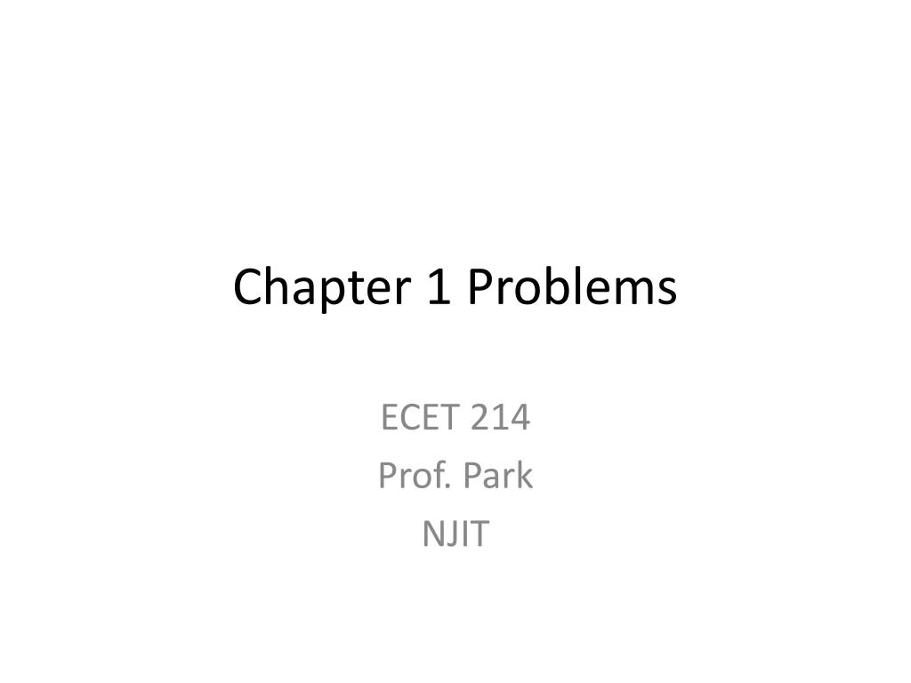 chapter 1 problems l.