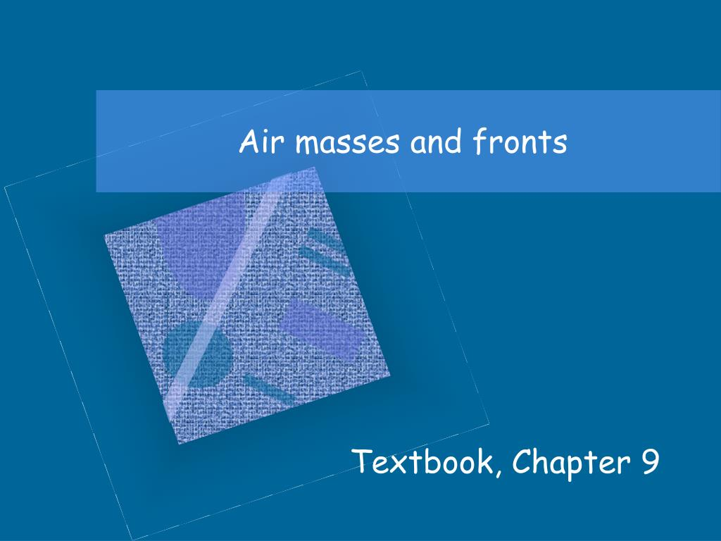 air masses and fronts l.