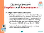 distinction between suppliers and subcontractors32
