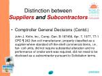 distinction between suppliers and subcontractors33