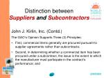 distinction between suppliers and subcontractors34