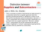 distinction between suppliers and subcontractors35