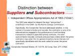 distinction between suppliers and subcontractors36