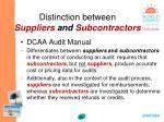 distinction between suppliers and subcontractors39