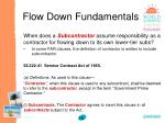 flow down fundamentals15